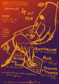 Ven 04/05 : CONCERT DE SOUTIEN A L'AMPHI Z - MAUDIT DRAGON + HININ + PERVERS ET TRUANDS + projection du film ATTIEKE ALL STARS