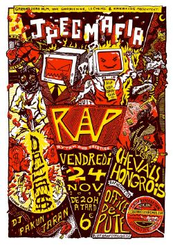 VEN 24/11 : JPEGMAFIA + DALLA$ + LES CHEVALS HONGROIS + PAKUN JARAN + OFFICE DE PUTE