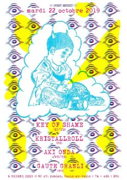 MAR 22/10 : AKI ONDA + KEY OF SHAME + GAUTE GRANLI+ KRISTALLROLL
