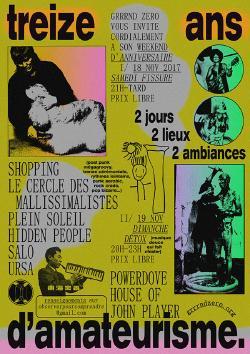 SAM 18/11 ANNIV GZ !!! JOUR 1 : SHOPPING + LE CERCLE DES MALLISSIMALISTES + PLEIN SOLEIL + URSA + SALO + HIDDEN PEOPLE + GZSS