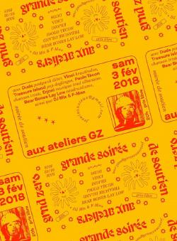 SAM 03/02 : Soirée soutien ateliers GZ - DUDS + BEAR BONES LAY LOW + VINCI + TREASURE ISLAND + PAOLO TECON + EJRONI + DJ FRANCE