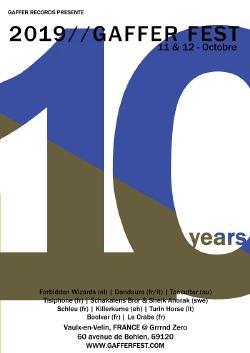VEN 11/10 - SAM 12/10 : Gaffer Fest #10