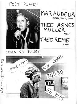 SAM 21/07 : THEE AGNES MULLER + MARAUDEUR + THEOREME