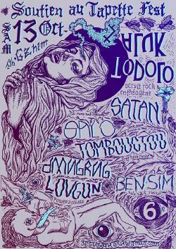 SAM 13/10 : Heal the Tapette Fest : ALUK TODOLO + SATAN + SALO + DMNGRG + LOVGUN +  BEN SIM + TOMBOUCTOU