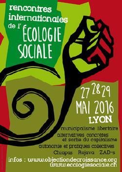 VEN 27 / SAM 28 : RENCONTRES INTERNATIONALES DE L'ECOLOGIE SOCIALE @ SQUARE PHOENIX