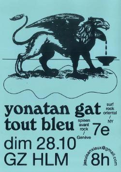 DIM 28/10 : YONATHAN GAT + TOUT BLEU